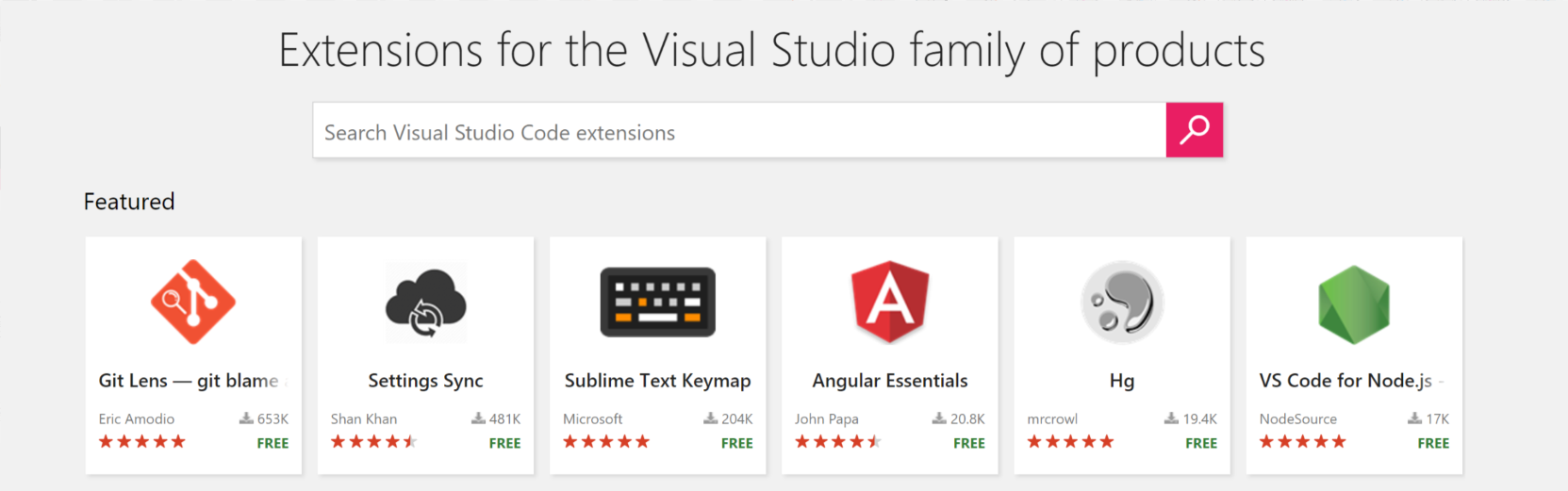 Installed Visual Studio Code Extensions